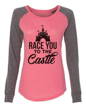 "Womens ""Race You To The Castle"" Long Sleeve Elbow Patch Contrast Shirt X-Small Womens Tank Tops Mint"