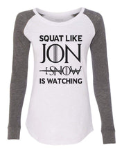 "Womens ""Jon Snow Dragon"" Long Sleeve Elbow Patch Contrast Shirt X-Small Womens Tank Tops Peach"