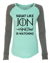 "Womens ""Jon Snow Dragon"" Long Sleeve Elbow Patch Contrast Shirt X-Small Womens Tank Tops White"
