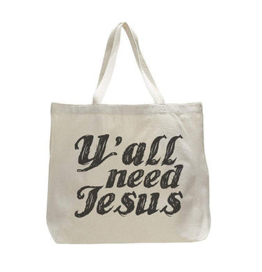 Y'All Need Jesus - Trendy Natural Canvas Bag - Funny and Unique - Tote Bag  Womens Tank Tops