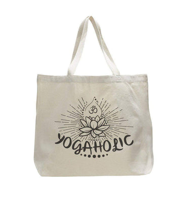 Yogaholic - Trendy Natural Canvas Bag - Funny and Unique - Tote Bag  Womens Tank Tops