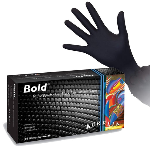 Aurelia Bold - Black Nitrile Exam Gloves