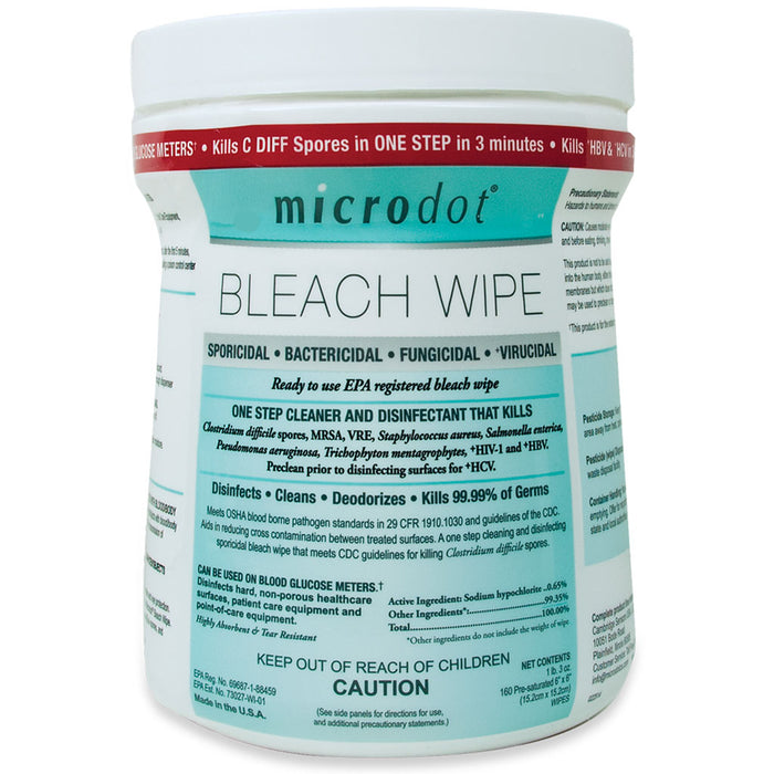 Microdot Bleach Wipes