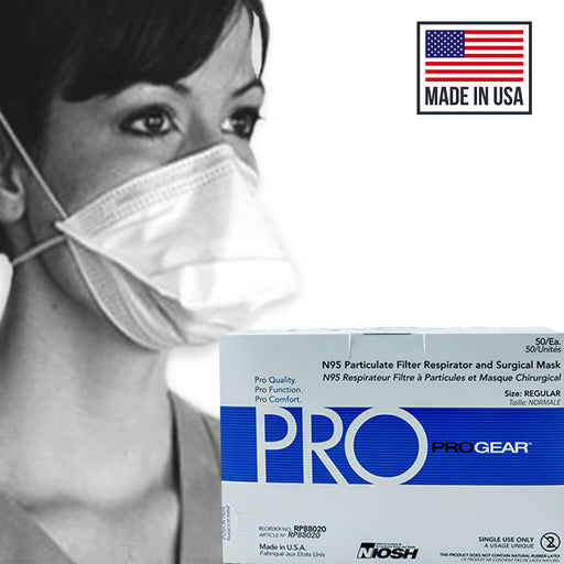 ProGear® NIOSH N95 Particulate Filter Respirator and Surgical Mask