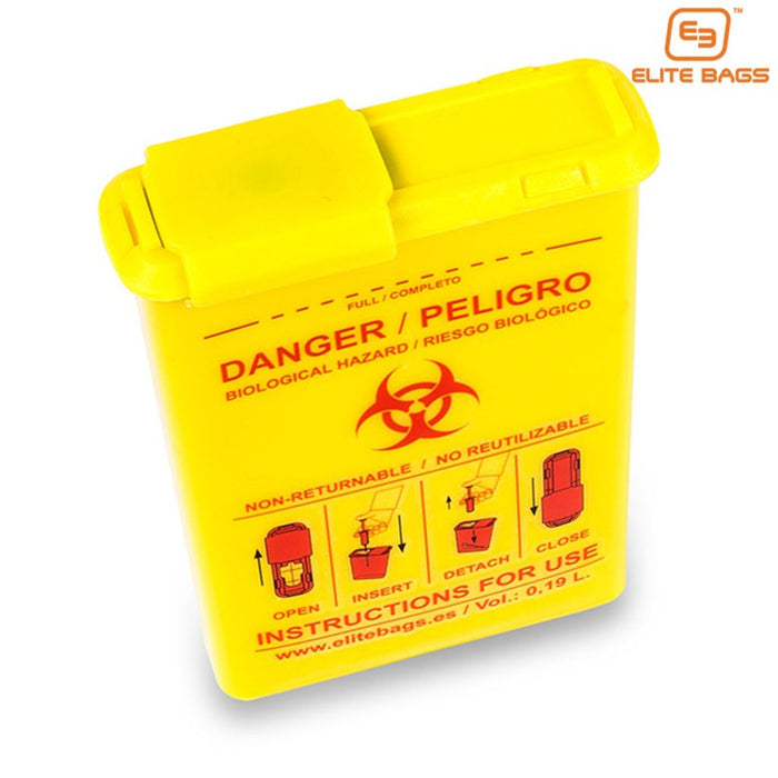 Elite Bags Compact Biohazard Sharps Container