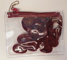 1223BRC - Zip Hair Tie Purse Packs - Maroon