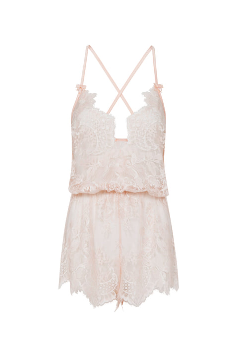 Palindrome Birdie Romper in Silver Peony