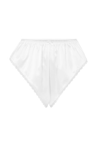 Palindrome Chimera French Shorts in Bright White