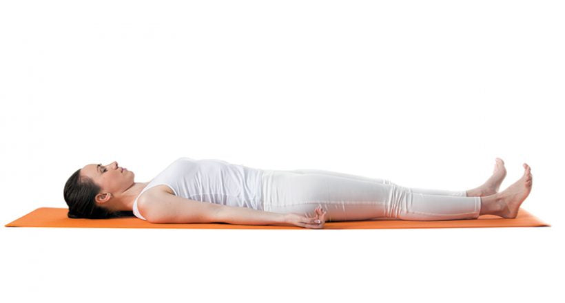 Corpse Pose - Easy yoga poses to do at home - Thalia Skin