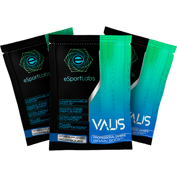VALIS - 3 FREE Servings | Natural Performance Enhancement for Gamers