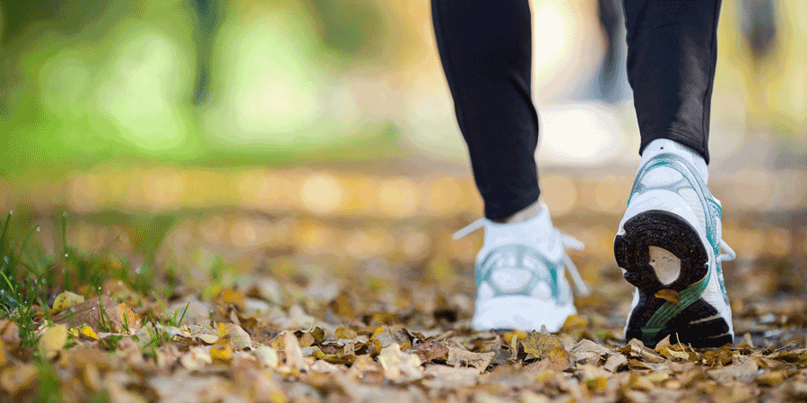 walking to stay healthy and avoid sugar