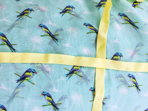 Made-to-order Parrots with yellow ribbon. KIDS