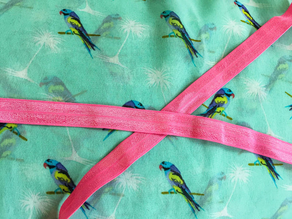 Made-to-order Parrots with pink ribbon. KIDS