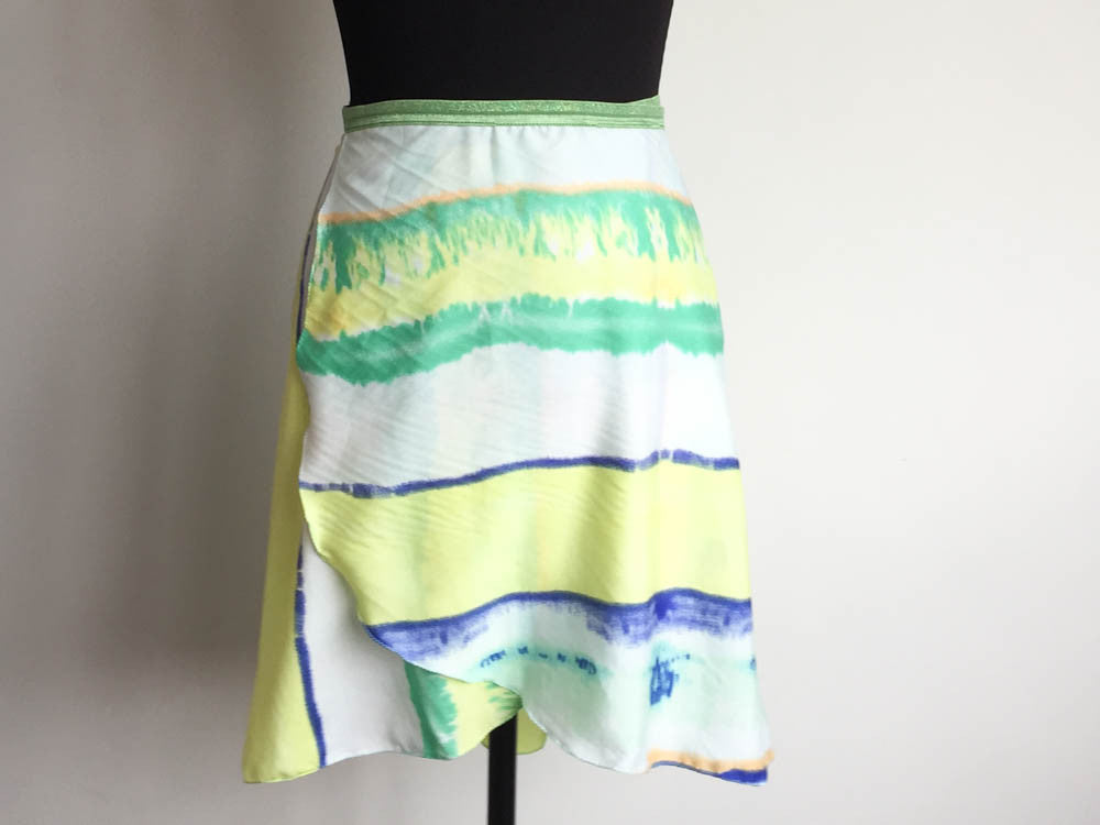 Dye dance skirt long length