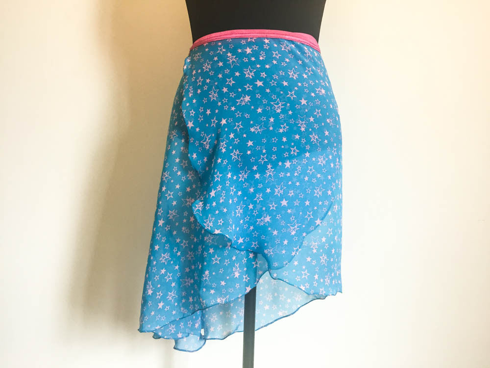 Pink stars skirt long length