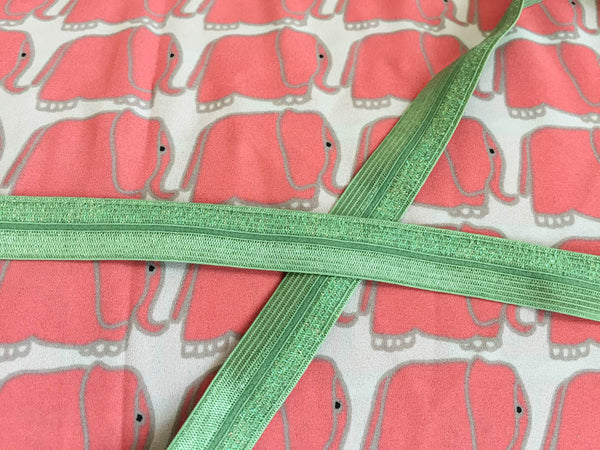 Made-to-order Big elephants with sparkling green ribbon. KIDS