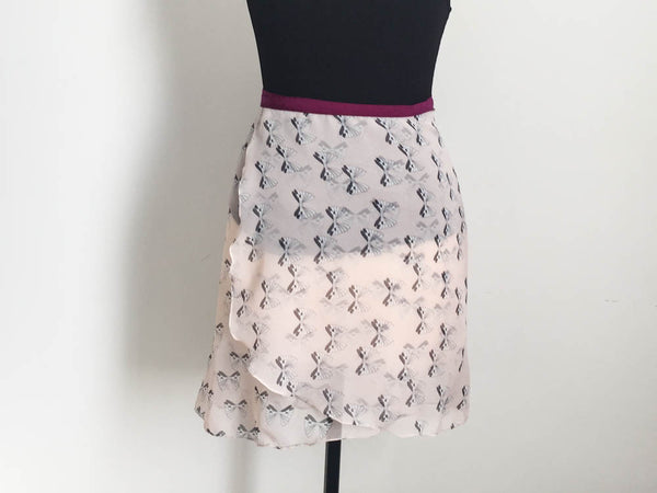 Ribbons dance skirt. Long length.