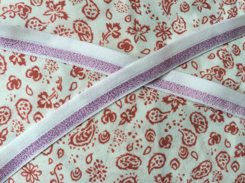 Bandana with  purple ribbon