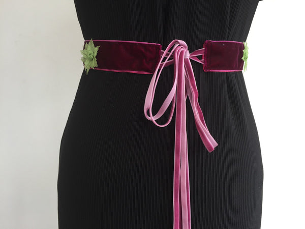 Green daisies belt