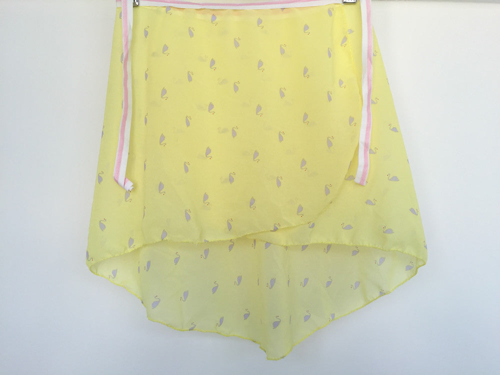 Yellow swan dance skirt