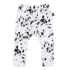 White Paint Splash Pant