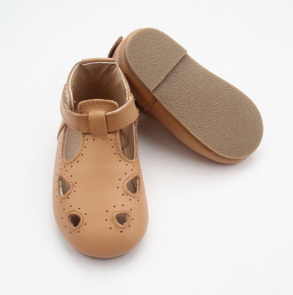Tan Maroula T-Bar (Hard Sole)
