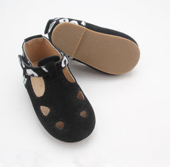 Black Maroula T-Bar (Hard Sole)