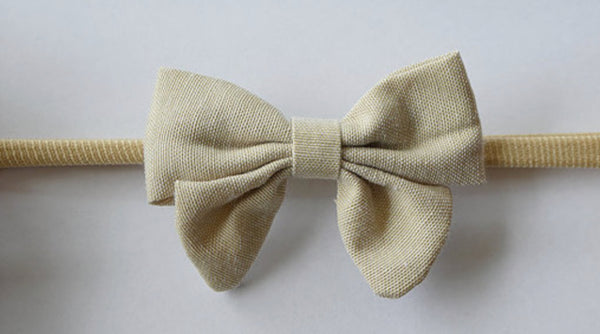 Linen Bow Headband - Ivy