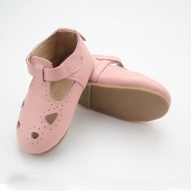Pink Maroula T-Bar (Hard Sole)