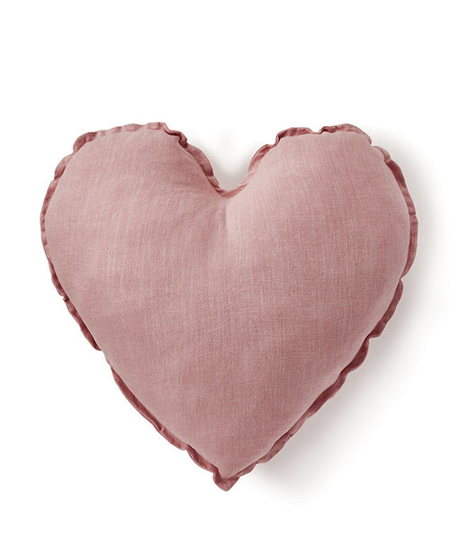 Heart Cushion - Blush Pink