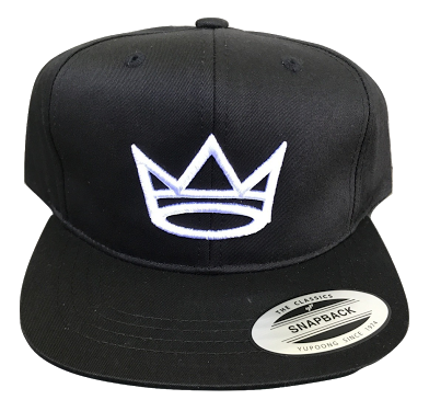 Snap Back Cap - Black/White Crown