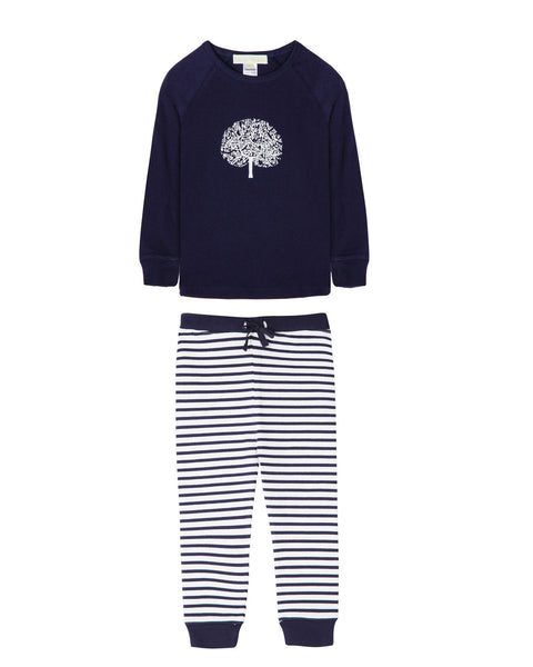 Jane Apple Tree Navy Pyjama Set