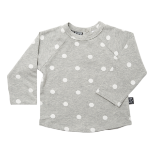 Long Sleeve T-Shirt - Dot It Grey/White