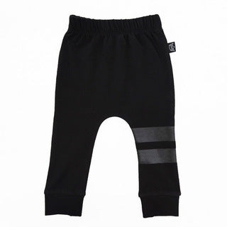 Double Up Stripe Pant - Black/Black