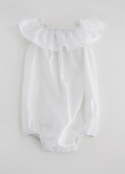 White Frill Collar Bodysuit