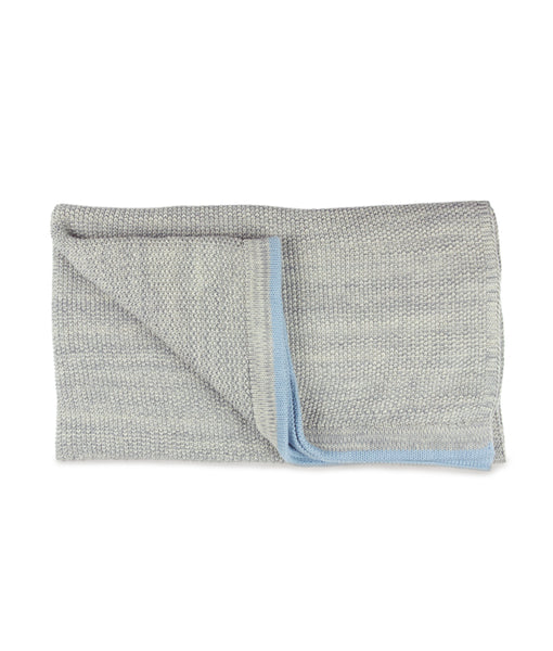 Grey moss Knit with Milky Blue stripe