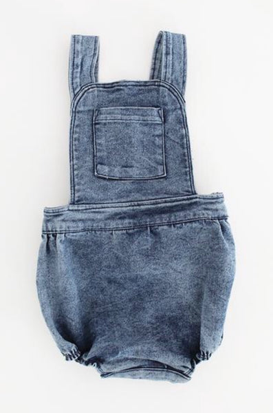 Overalls Romper - Blue Denim