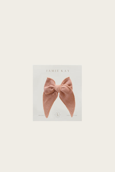 Organic Cotton Muslin Bow - Sunset
