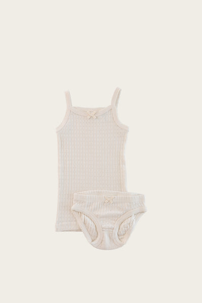 Pointelle Underwear Set - Ivory