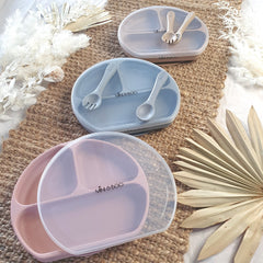 Suction Plate Set - Dusty Lilac