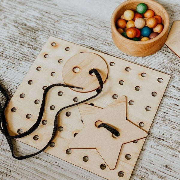 Lacing Board With Shapes