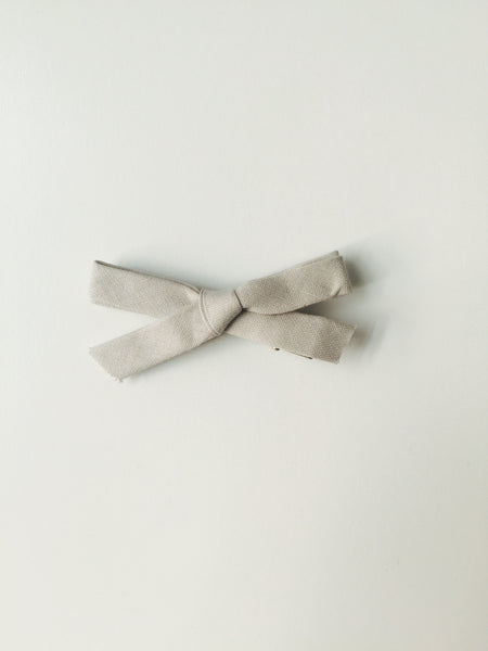 Classic Hand Tied Bow - Ash Grey