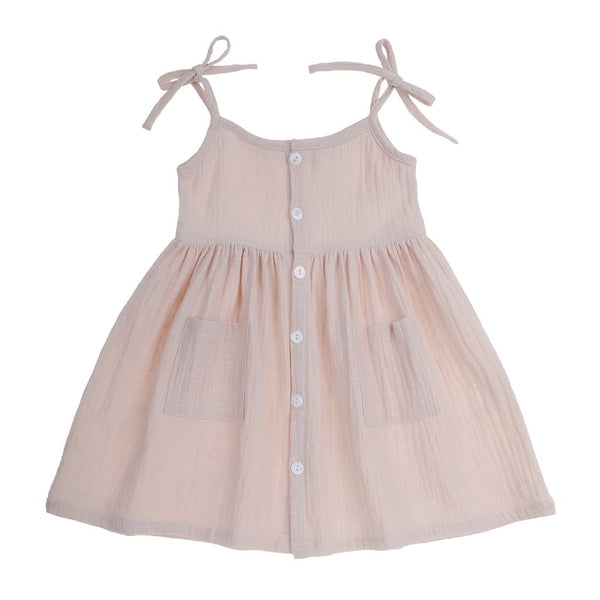 Tie Shoulder Sundress - Cream
