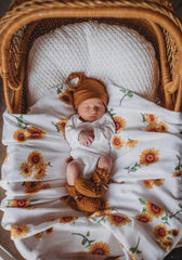 Sunflower Organic Muslin Wrap