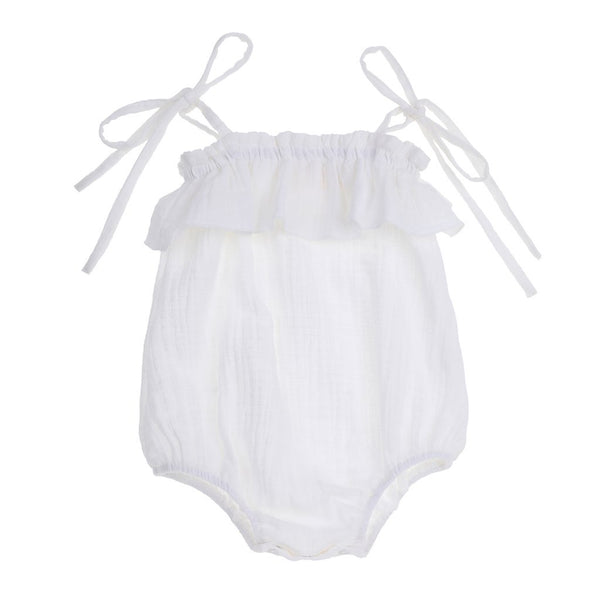 Tie shoulder sunsuit - White