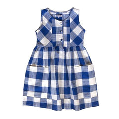 Kate Dress - Blue & White Check