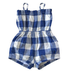 Solange Sunsuit - Blue & White Check