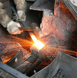 knife forging