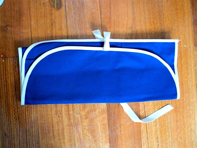 Knife case - Roll-up type (Blue)