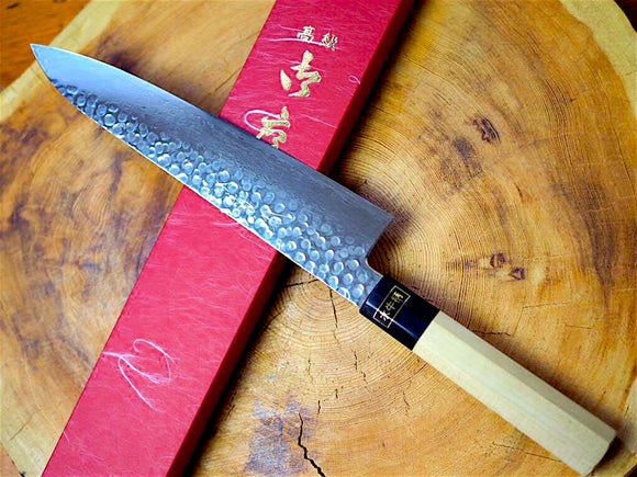 "Sakai Jikko ""Kyomen Wa-Gyuto"" Chef's Knife VG10 Core and Damascus Steel with hammered finish (21cm/24cm)"